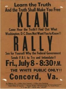 KKK Rally sign