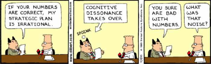 Dilbert Cognitive Dissonance